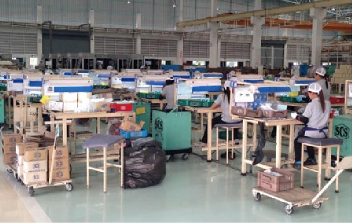 午後からは現地の工場を見学。
